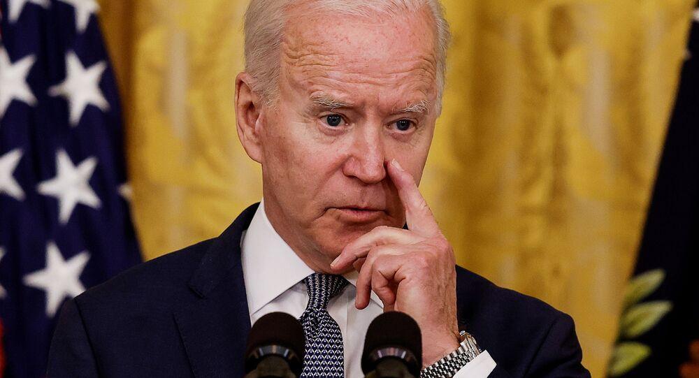 Joe Biden, presidente dos EUA, falando na Sala Leste da Casa Branca em Washington, EUA, 17 de junho de 2021