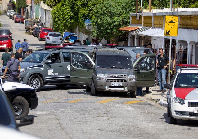 Carro do policial militar da Rota Fernando Flávio Flores, morto em Interlagos (SP)