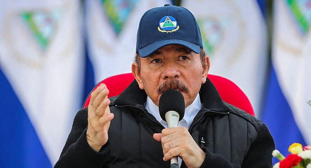 Presidente da Nicarágua, Daniel Ortega, durante o 41º aniversário da Revolução Sandinista em Manágua, Nicarágua. Foto de arquivo