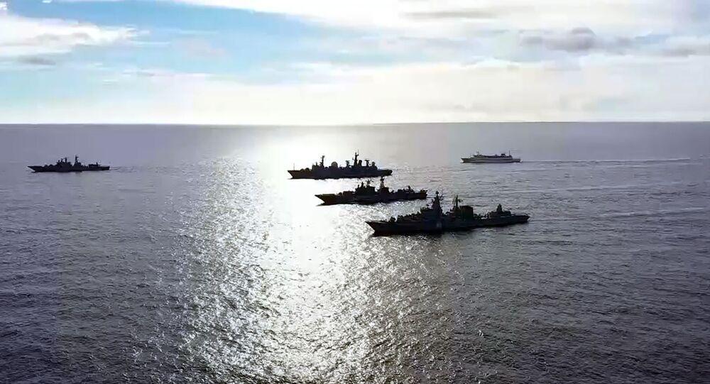 Navios da Frota russa do Pacífico