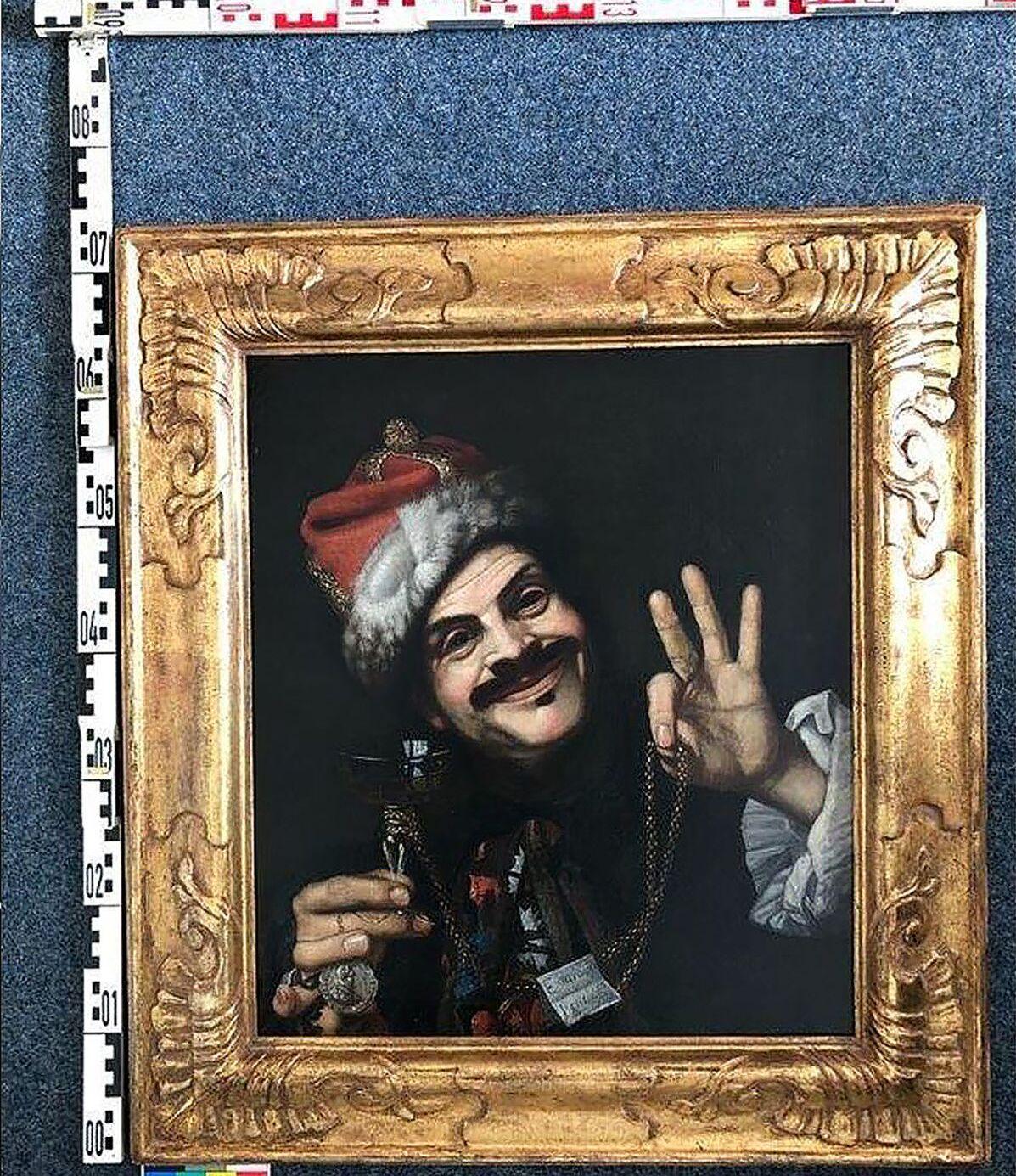Quadro Autorretrato de Pietro Bellotti encontrado em lixeira na Alemanha