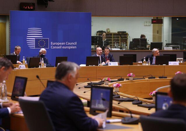 Representantes da UE se encontram em Bruxelas para Cúpula, em 24 de junho de 2021
