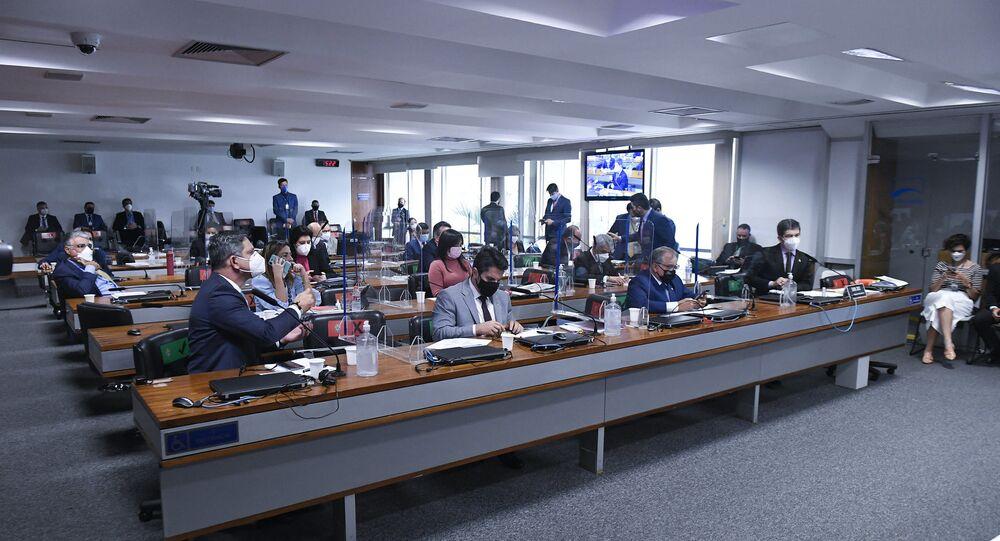 CPI da Covid durante depoimentos, Brasília, 25 de junho de 2021