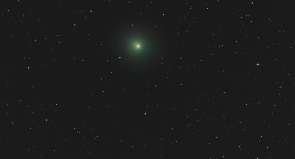 Imagem astronômica amadora do cometa 46P/Wirtanen em 12 de dezembro de 2018