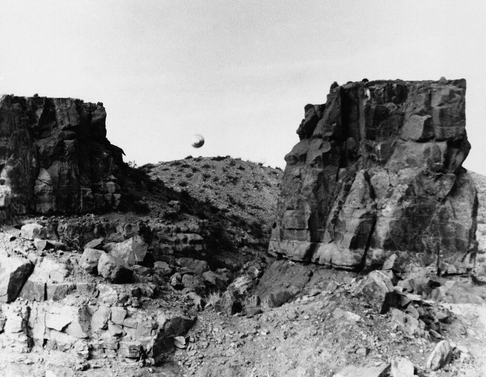 Fotografia tirada por um estudante da Universidade Estadual do Novo México em 12 de março de 1967