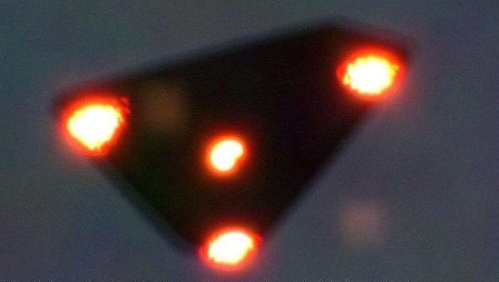 Triangulo voador que teria sido fotografado em 15 de junho de 1990 na Bélgica