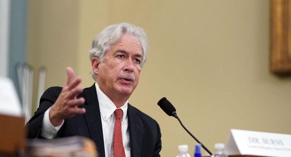 Diretor da CIA, William Burns, durante sessão do Comitê de Inteligência sobre ameaças mundiais, Capitólio, Washington DC, 15 de abril de 2021