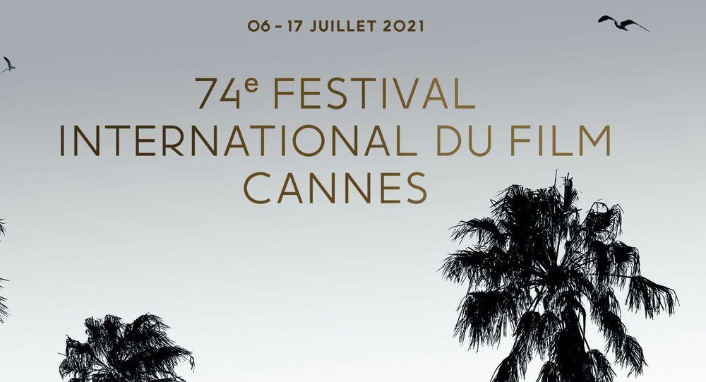 Cartaz oficial do 74º Festival de Cinema de Cannes com o presidente do júri, Spike Lee, 6 de julho de 2021