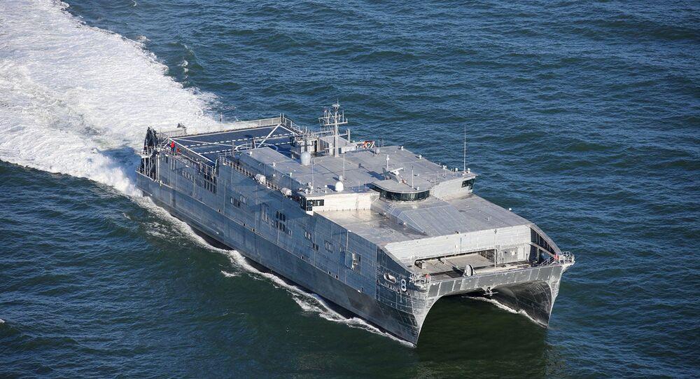 Navio de transporte rápido expedicionário USNS Yuma da Marinha dos EUA