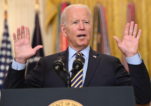 O presidente dos EUA, Joe Biden, fala sobre a situação no Afeganistão na Casa Branca em Washington, EUA, 8 de julho de 2021