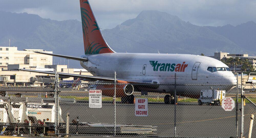 Boeing 737 da companhia aérea Transair