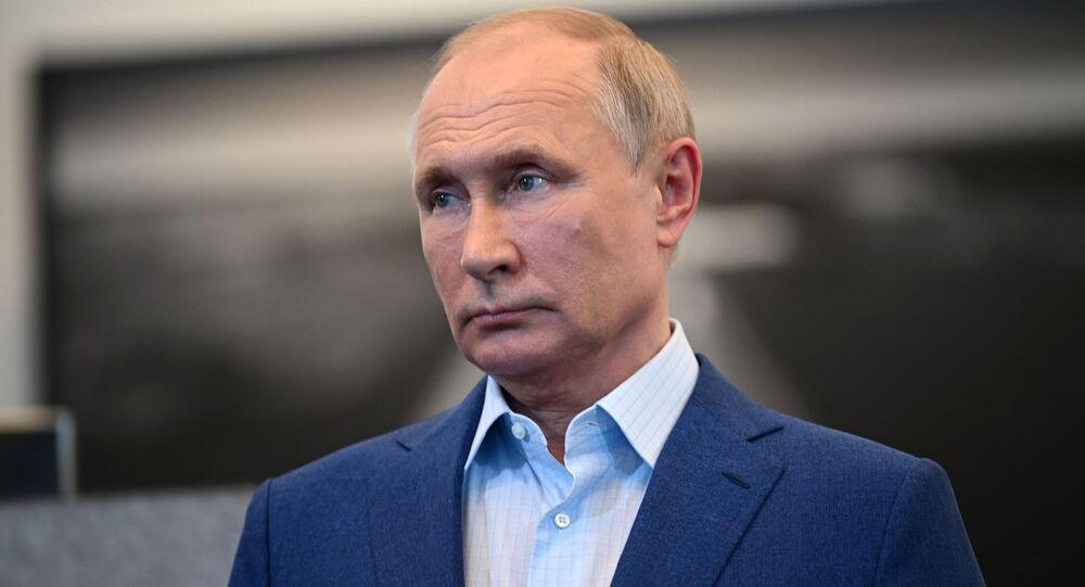 Presidente da Rússia, Vladimir Putin, 8 de julho de 2021