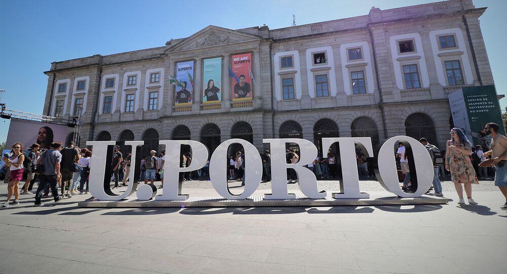 Fachada da Universidade do porto, no norte de Portugal