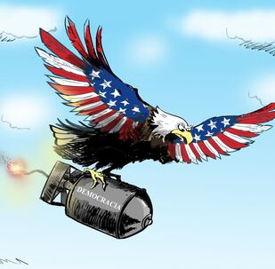 Estande de tiro à americana na Síria - Sputnik Brasil