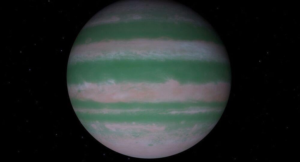 Representação artística do exoplaneta TYC 8998-760-1 b