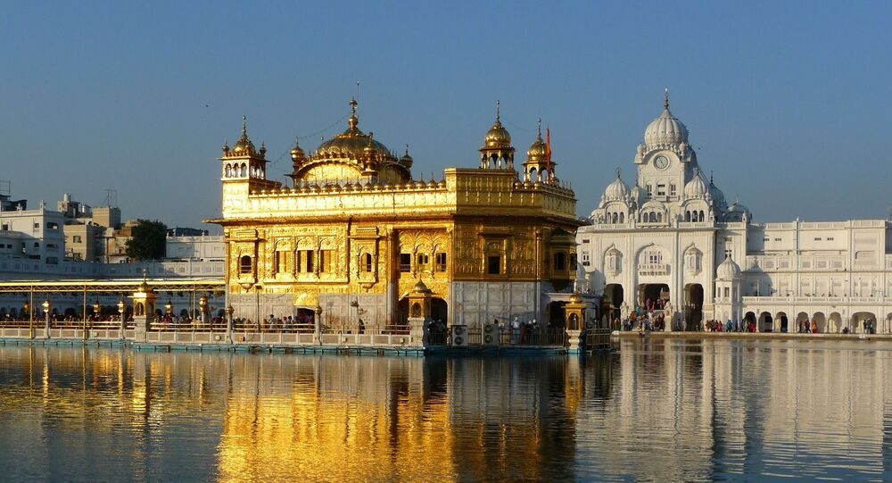 Templo Dourado na Índia (imagem referencial)