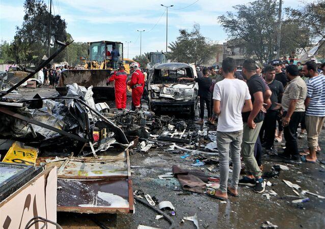 Explosão em mercado no Iraque (imagem referencial)