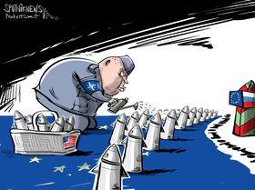 Plantações de mísseis dos EUA na Europa