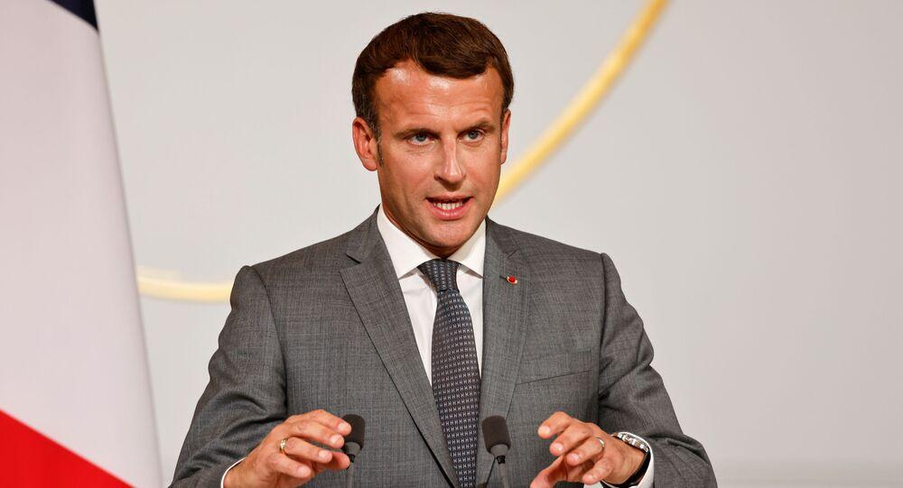 Presidente da França Emmanuel Macron, Paris, 19 de julho de 2021