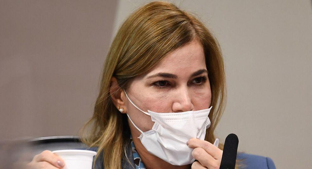Mayra Pinheiro, secretária de Gestão do Trabalho do Ministério da Saúde, conhecida como Capitã Cloroquina