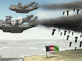 EUA bombardeando no Afeganistão