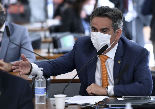 Ciro Nogueira durante sessão da CPI da Covid no Senado, Brasília, 8 de julho de 2021