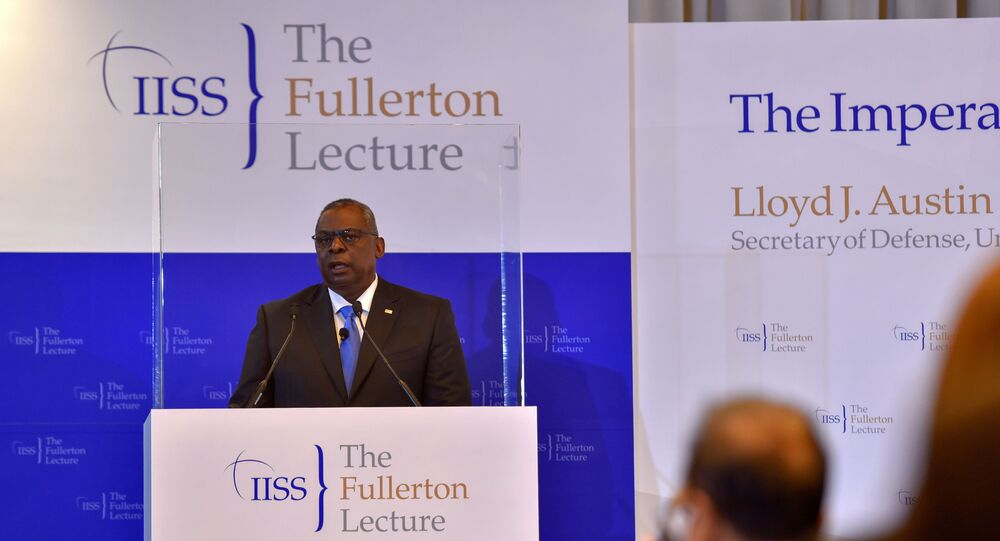 Lloyd Austin, secretário de Defesa dos EUA, fala na 40ª Palestra do Instituto Internacional de Estudos Estratégicos de Fullerton em Cingapura, 27 de julho de 2021