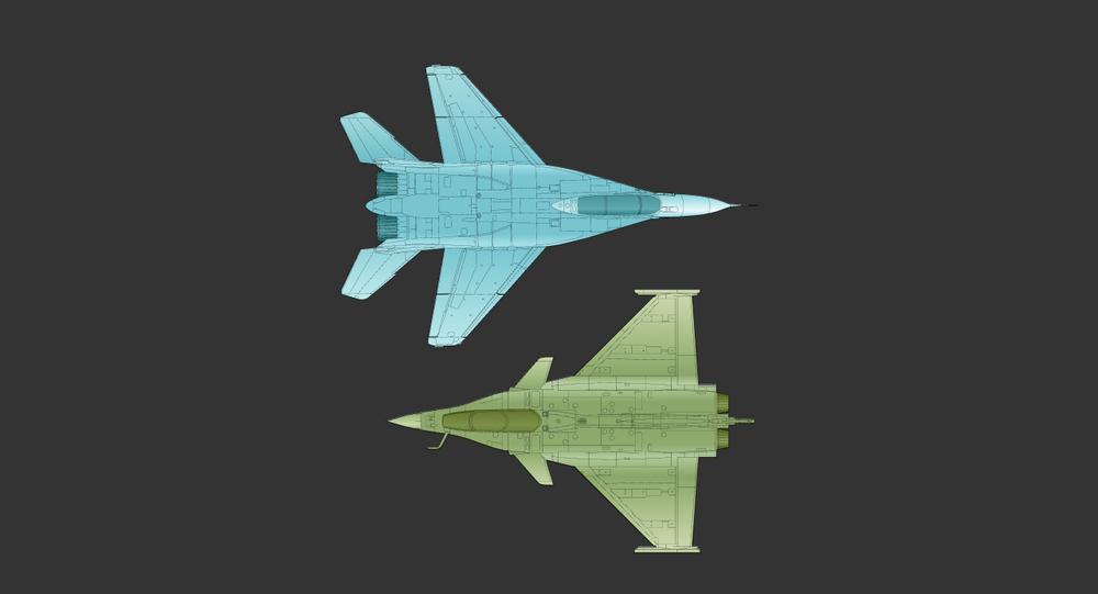 Caças Dassault Rafale e MiG-35