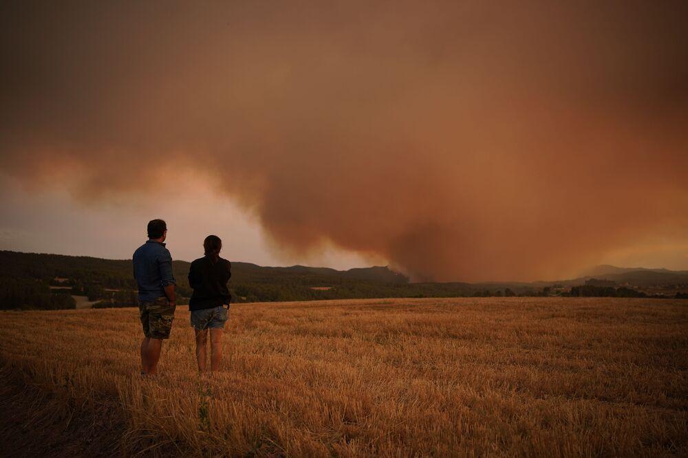 Incêndio florestal na Catalunha, Espanha, 25 de julho de 2021