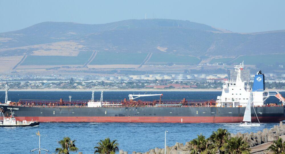 Mercer Street, petroleiro de bandeira liberiana administrado pela israelense Zodiac Maritime que foi atacado na costa de Omã. Foto de arquivo