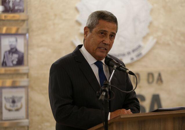 Ministro da Defesa, general Braga Netto, apresenta comandantes das Forças Armadas no Ministério da Defesa, em Brasília. Foto de arquivo