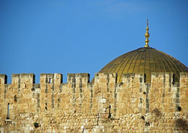 Domo da Rocha, na Cidade Velha de Jerusalém