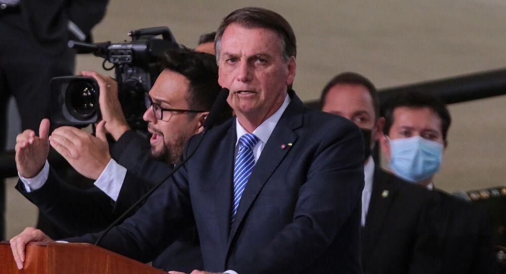 O presidente Jair Bolsonaro  durante cerimônia de posse do senhor Ciro Nogueira, Ministro de Estado Chefe da Casa Civil da Presidência da República, realizado na cidade de Brasília, DF, 4 de agosto de 2021