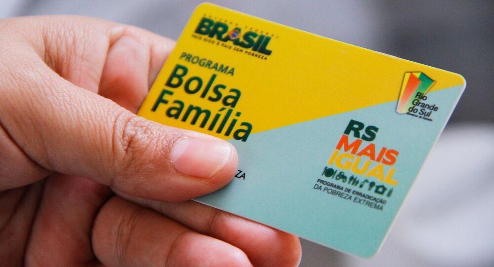 Cartão do Bolsa Família, da Caixa Econômica Federal. Foto de arquivo