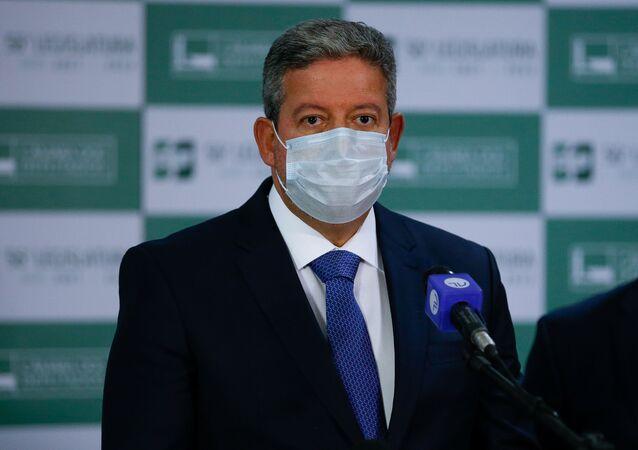 O presidente da Câmara dos Deputados, Arthur Lira (PP-AL) em Brasília, 7 de agosto de 2021