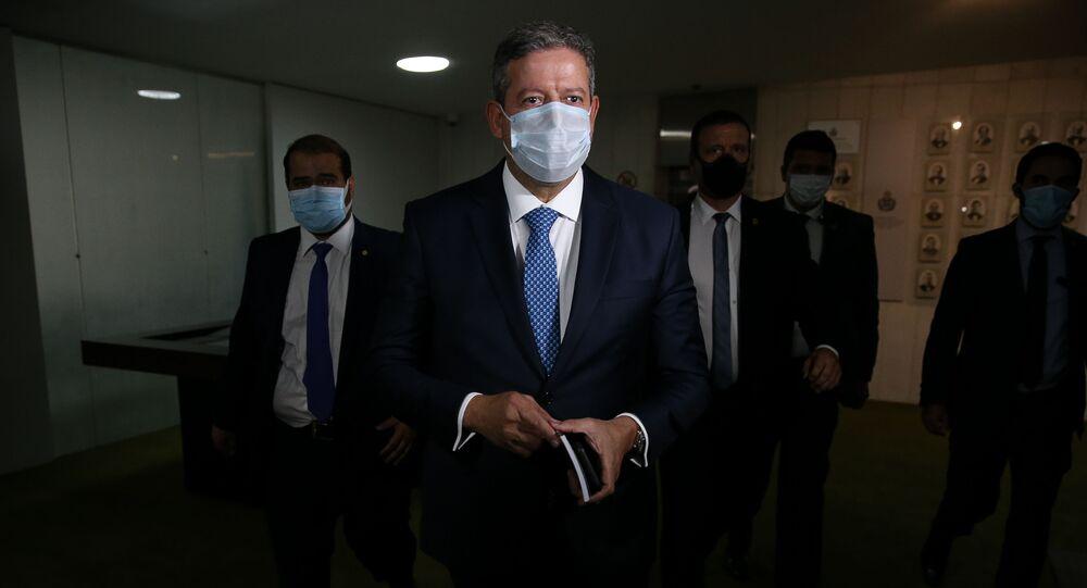 O presidente da Câmara dos Deputados, Arthur Lira (PP-AL), chega à Câmara nesta terça, 10 de agosto de 2021