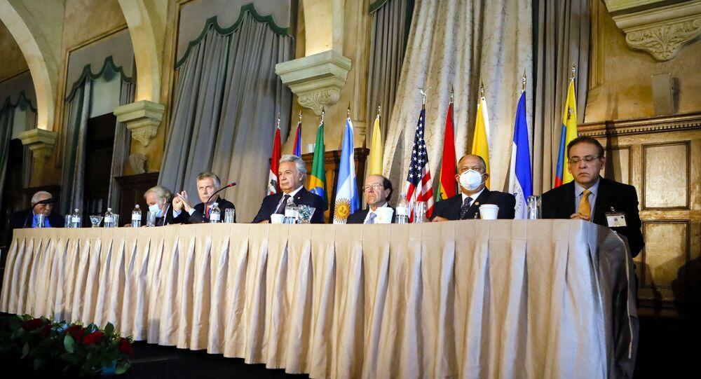 Forum da Organização dos Estados Americanos (OEA), Flórida, EUA, 5 de maio de 2021