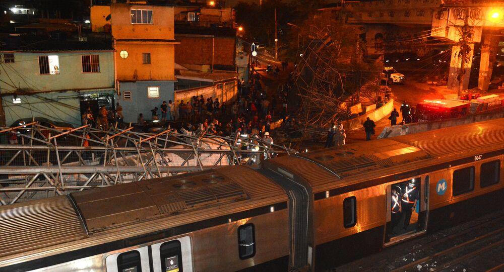 Queda de passarela no metrô na Zona Norte do Rio, 13 de agosto de 2021