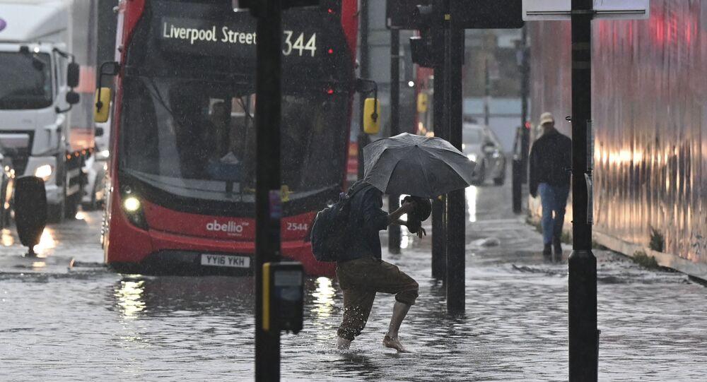 Londres durante inundação, 25 de julho de 2021
