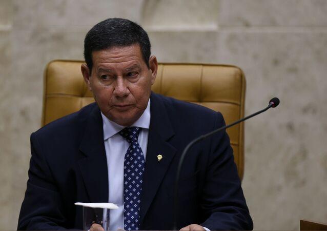 Vice-presidente da República, Hamilton Mourão, em Brasília, 20 de março de 2020