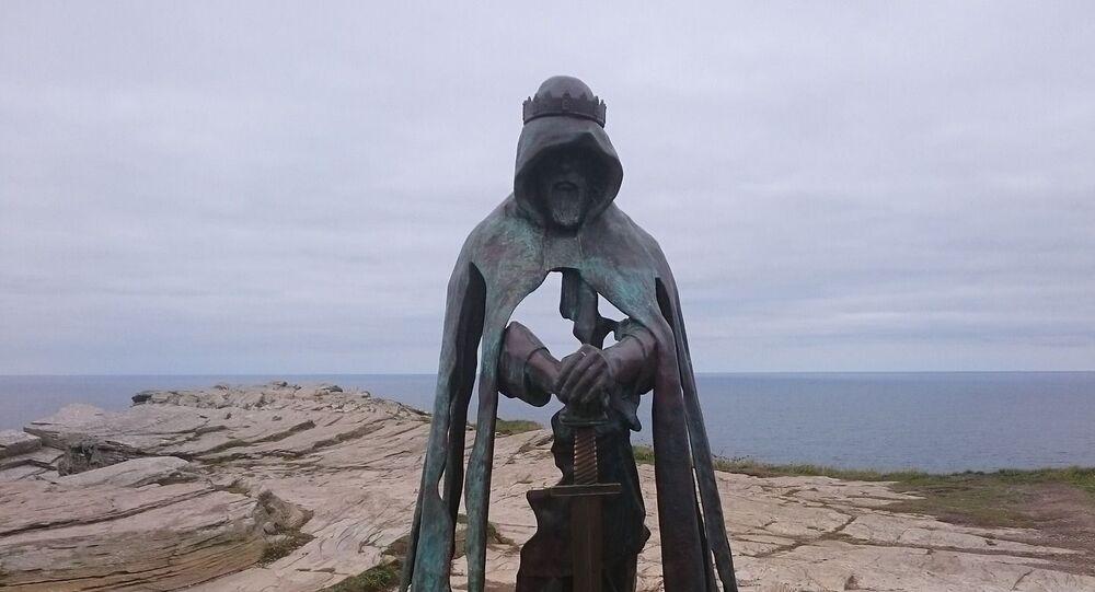 Representação artística do lendário rei Artur
