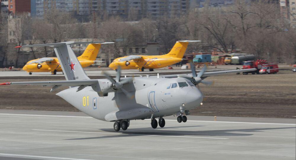 Segundo voo do avião militar de transporte da Rússia Il-112V