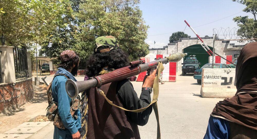 Forças do Talibã em Cabul, Afeganistão