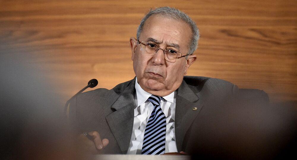 Ministro das Relações Exteriores argelino Ramdane Lamamra. Foto de arquivo