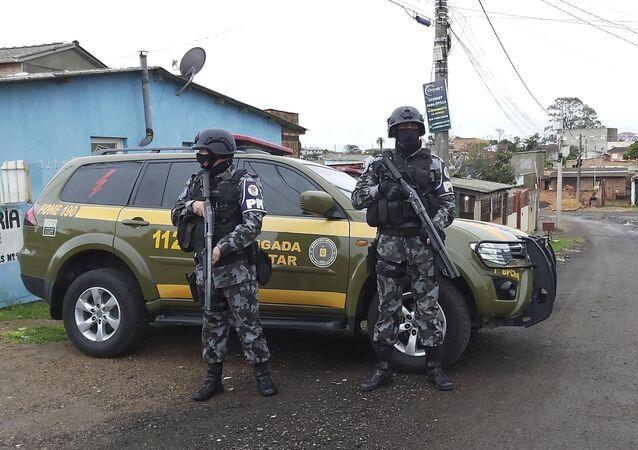 Movimentação de policiais em Porto Alegre, Rio Grande do Sul, em 24 de agosto de 2021