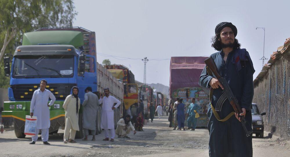 Militante do Talibã vigia fronteira entre Afeganistão e Paquistão