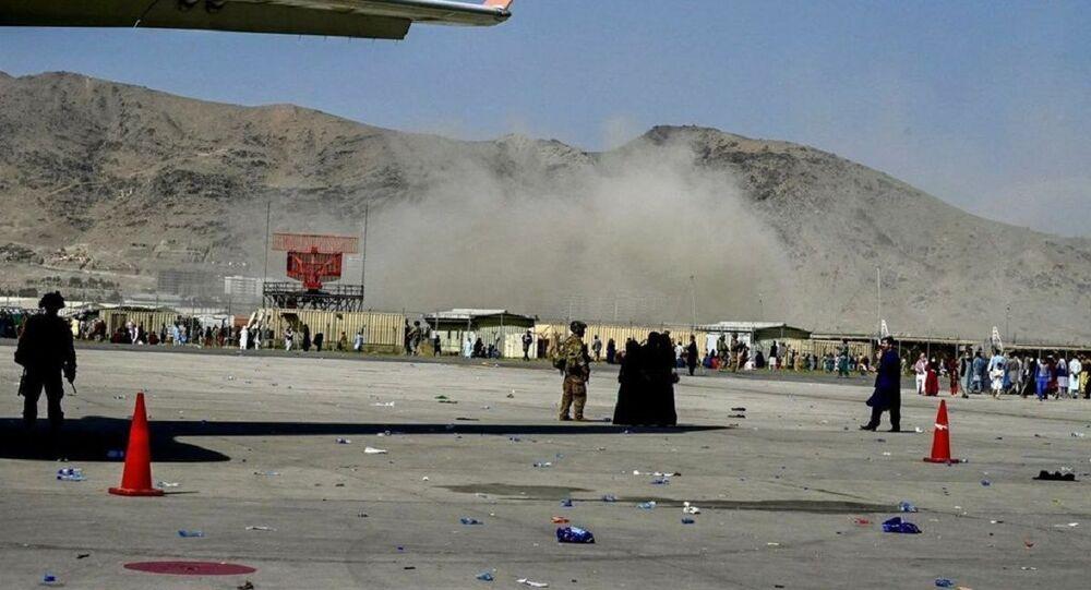 Imagem mostra o alegado momento da explosão que ocorreu perto do aeroporto de Cabul