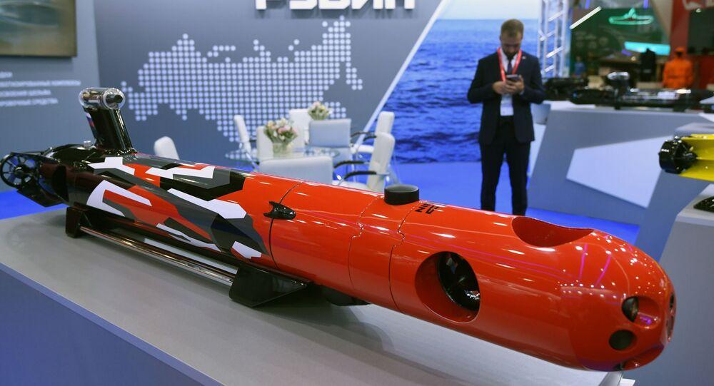 Drone submarino, Amulet-2, do Escritório Central de Projetos de Engenharia Naval Rubin
