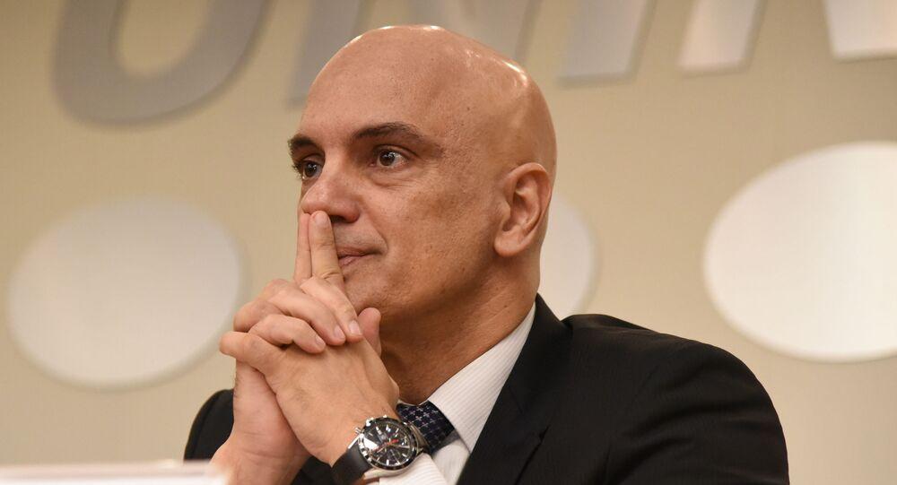 Ministro do Supremo Tribunal Federal (STF) Alexandre de Moraes na Universidade Nove de Julho (UNINOVE) durante evento em São Paulo. Foto de arquivo
