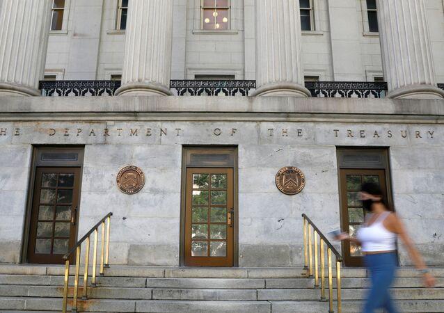 Sede do Departamento do Tesouro norte-americano em Washington, EUA, 29 de agosto de 2020